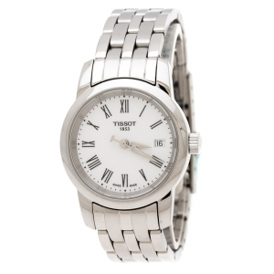 Tissot White Stainless Steel Jungfraubahn 1912-2012 T-Classic Dream T033210A Women's Wristwatch 28 mm