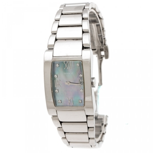 Tissot Purple Mother Of Pearl Stainless Steel Generosi-T T007309A Women's Wristwatch 24.50 mm