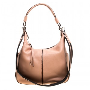 Tod's Beige Leather Miky Hobo