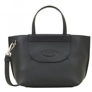 """حقيبة تودز """"شوبينغ"""" صغيرة جلد أسود"""