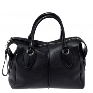 Tod's Black Leather D Styling Bowler Bag