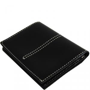 Tod's Black Leather Business Card Holder