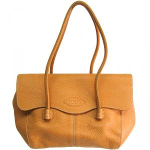 Tod's Beige Leather Satchel