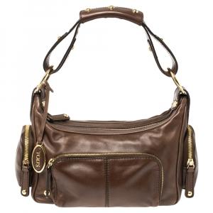 Tod's Brown Leather Multi Pocket Bag
