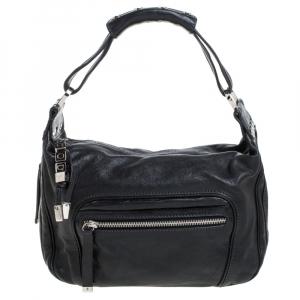 Tod's Black Leather Pocket Hobo