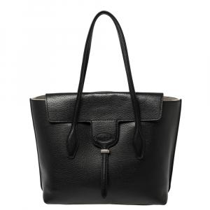 Tod's Black Leather Medium Joy Tote