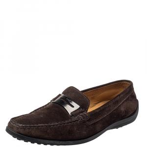 حذاء لوفرز سليب أون تودز بيني سويدي بني مقاس 38