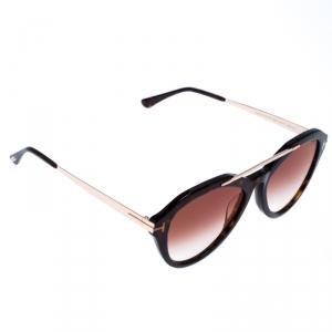 Tom Ford Brown Tortoise Gradient Lisa Sunglasses