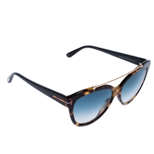 Tom Ford Brown Tortoise Gradient Livia Sunglasses