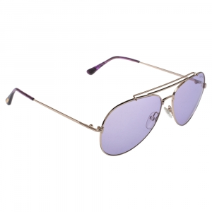 Tom Ford Purple/Gold Indiana Aviator Sunglasses