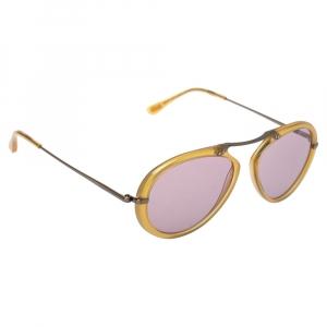 Tom Ford Light Brown/Purple TF473 Aaron Aviator Sunglasses
