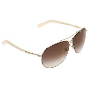 Tom Ford Brown Gradient Eva TF374 Aviator Sunglasses
