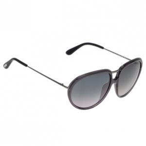 Tom Ford Black Faye Oval Sunglasses
