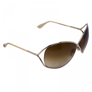 Tom Ford Brown Gradient TF 130 Miranda Oversize Sunglasses