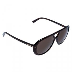 Tom Ford Brown Tortoise Marley Aviator Sunglasses
