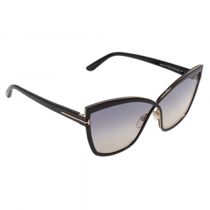 Tom Ford Black/Grey Sandrine TF715 Gradient Oversized Sunglasses