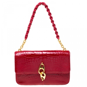 Tom Ford Red Alligator Leather Shoulder Bag