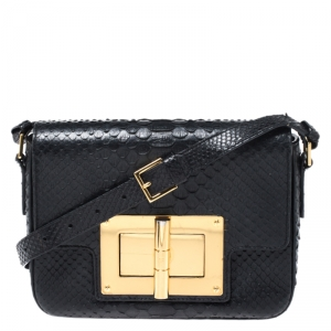Tom Ford Black Python Small Natalia Crossbody Bag