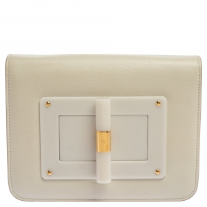 Tom Ford White Leather Small Natalia Crossbody Bag