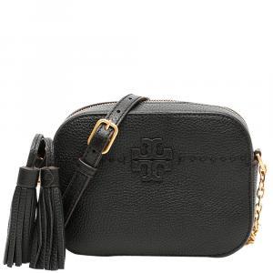 Tory Burch Black Leather Mcgraw Camera Bag