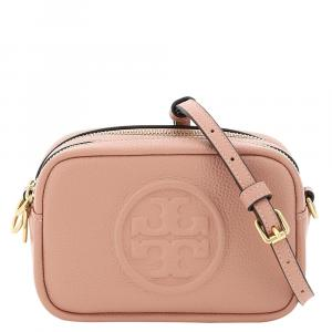 Tory Burch Pink Perry Bombe Leather Mini Camera Bag