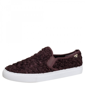 Tory Burch Brown Rosette Slip On Sneakers Size 40 - used