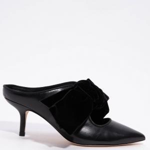 Tory Burch Black Leather Clara 65mm Mules Size EU 37