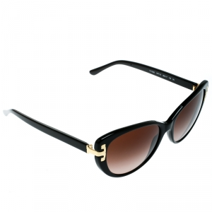 Tory Burch Black/Brown Gradient TY7092 Serif-T Cat Eye Sunglasses