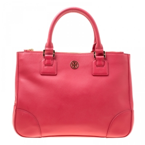 Tory Burch Matte Red Leather Robinson Tote