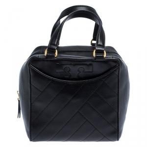 Tory Burch Black Leather Mini Alexa Satchel