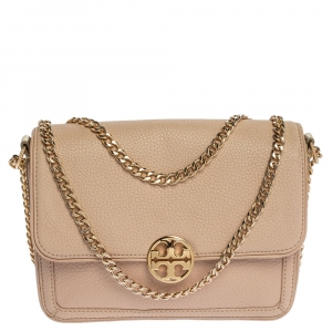 Tory Burch Powder Pink Leather Chelsea Chain Shoulder Bag
