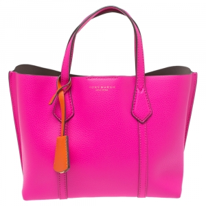 Tory Burch Hot Pink Leather Small Perry Tote