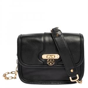 Tory Burch Black Leather Daria Crossbody Bag