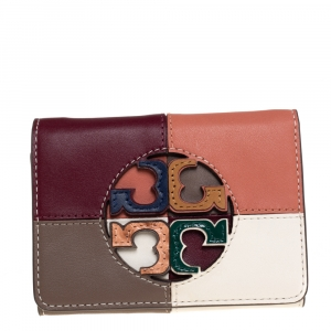 Tory Burch Multicolor Leather Colorblocked Miller Wallet