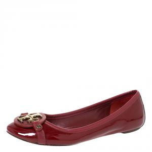 Tory Burch Red Patent Leather Aaden Ballet Flats Size 36.5 - used