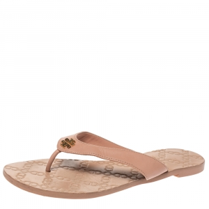 Tory Burch Beige Leather Monroe Thong Sandals Size 39 - used