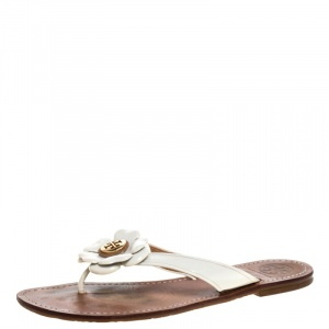 Tory Burch White Patent Leather