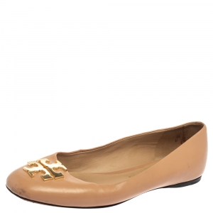 Tory Burch Beige Leather Reva Ballet Flats Size 36.5 - used