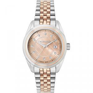ساعة يد نسائية تروساردي غاليريا ستانلس ستيل ذهبي وردية 38.5مم