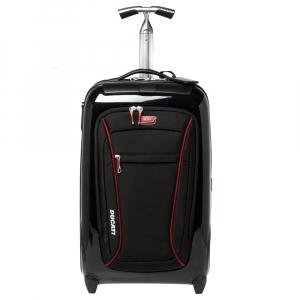 Tumi Black/Red Nylon Hardcase Ducati Evoluzione International Carry On Luggage