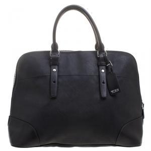Tumi Black Leather Villa Nivelle Business Satchel