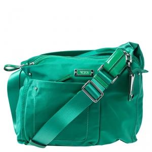 Tumi Green Nylon Sumatra Crossbody Bag