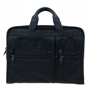 Tumi Black Alpha T-Pass Expandable Laptop Briefcase