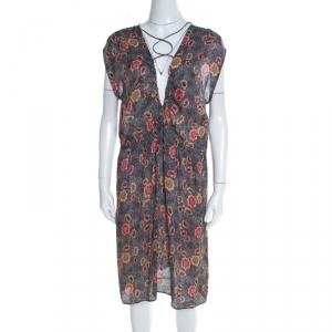 Isabel Marant Etoile Multicolor Drecious Floral Printed Dress L