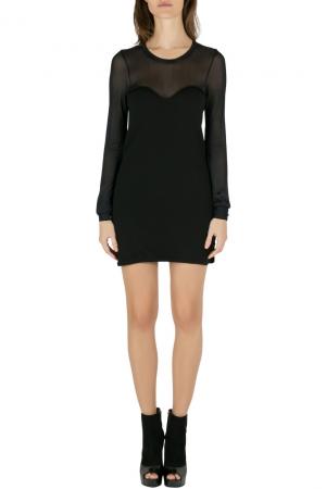 Isabel Marant Black Wool Blend Sheer Yoke Aglaee Mini Dress M