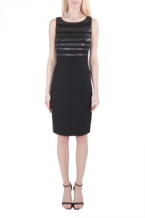 Jason Wu Black Jersey Sequin Embellished Sleeveless Sheath Dress S - used