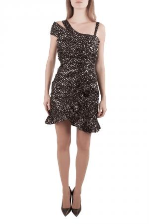 Isabel Marant Black Sequined Silk Asymmetric Sleeve Becky Mini Dress M
