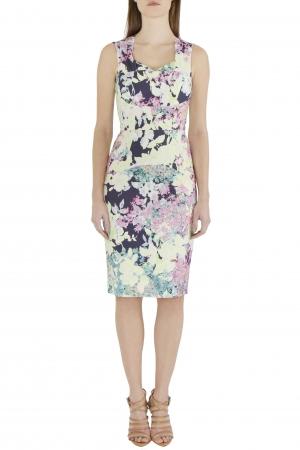 Erdem Multicolor Floral Print Cotton Blend Sleeveless Trina Sheath Dress S - used