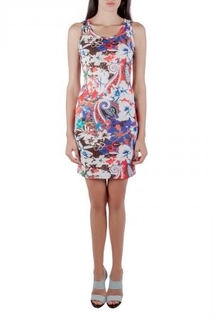 Etro Multicolor Tropical Print Crepe Sleeveless Tank Dress S used