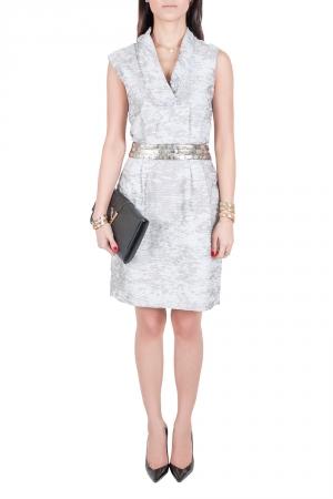 J Mendel Grey Cotton Waist Embellished Cocktail Dress M - used